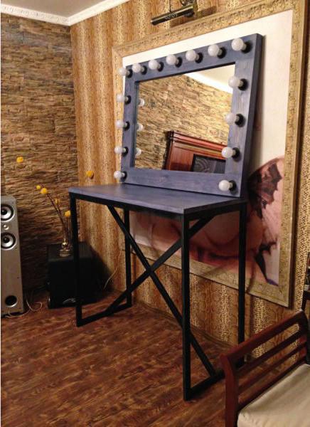 Makiyazhnyy stol i zerkalo v stile loft, la24